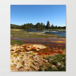 Firehole River Colors Canvas Print