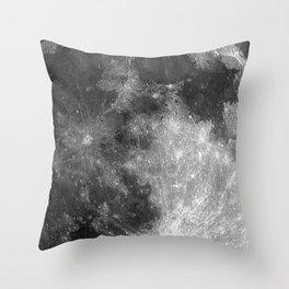 Black & White Moon Throw Pillow
