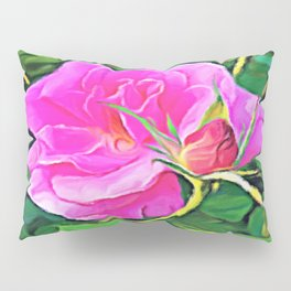 Pink Flower of Graceful Beauty Pillow Sham