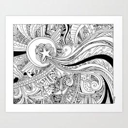 Traveling Star Art Print