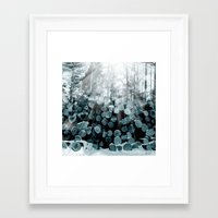 wood Framed Art Prints featuring wood  by mark ashkenazi