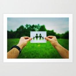 holding family symbol Art Print