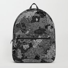 Gray Abstract Camouflage Backpack