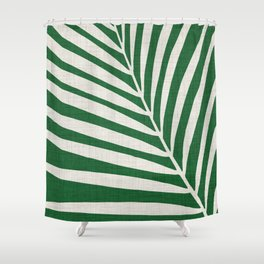 Minimalist Palm Leaf Shower Curtain