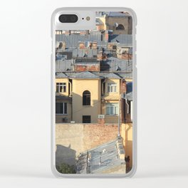 Saint-Petersburg buildings roofs cityscape architecture scenery. Clear iPhone Case