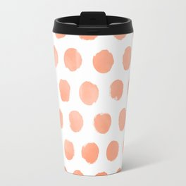 Fizzy Orange Watercolor Dots Travel Mug