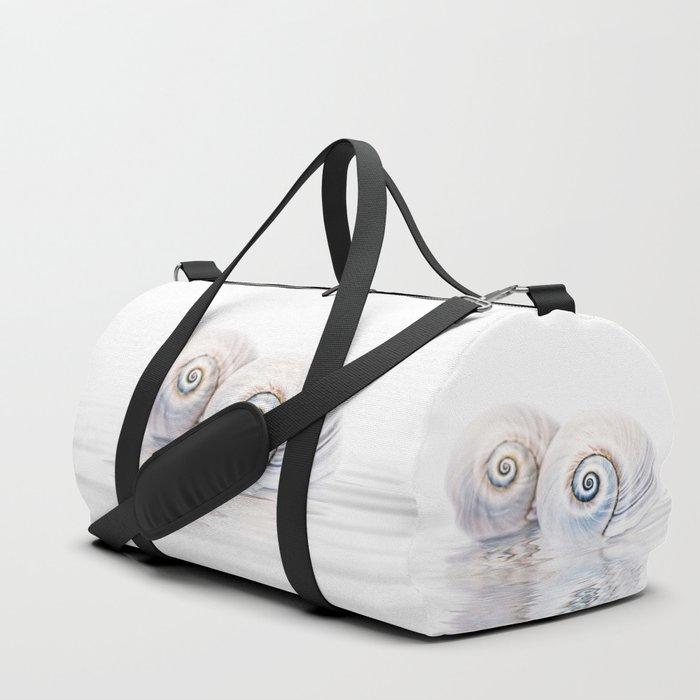 Snail Shells On Water Duffle Bag