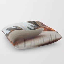 Chicago Bean - Big City Lights Floor Pillow