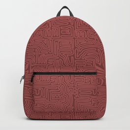 Red Line Pattern on Red Backpack