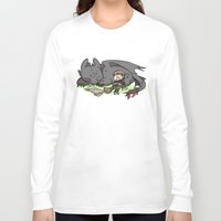 hiccup Long Sleeve T-shirts featuring Sleepy Buddies by comickergirl