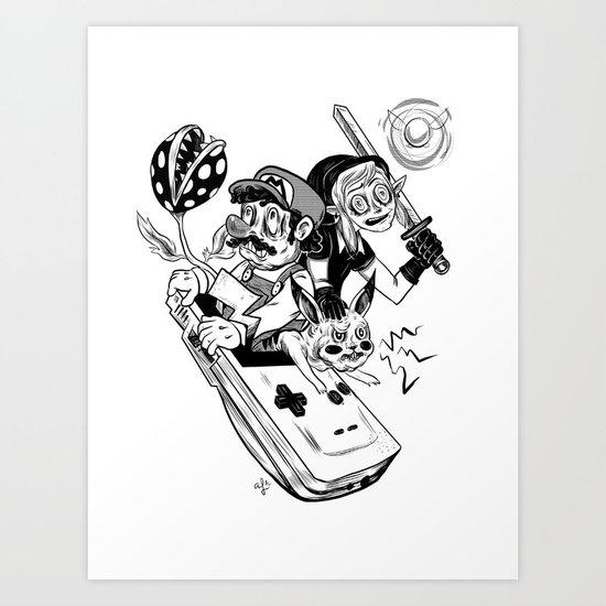 Handheld Heroes Art Print