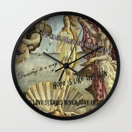 The birth of quotations Wall Clock
