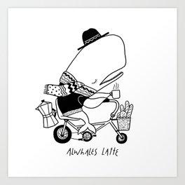 Alwhales Latte Art Print