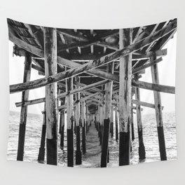 Balboa Pier Print {3 of 3}   Newport Beach Ocean Photography B&W Summer Sun Wave Art Wall Tapestry