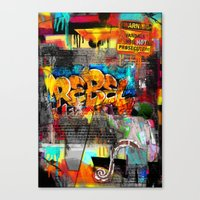 rebel Canvas Prints featuring Rebel. by Grant Pearce