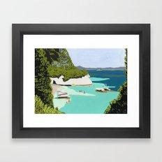 Cosy bay Framed Art Print