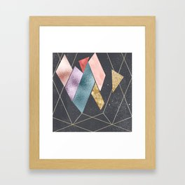 Abstract Geometry Framed Art Print