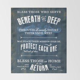 Submariners' Hymn Throw Blanket
