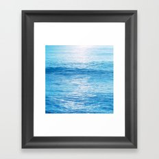 Cerulean Sea Framed Art Print