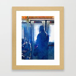 Contemplating the Commute Framed Art Print