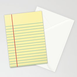 Legal Pad Graphic Stationery Cards