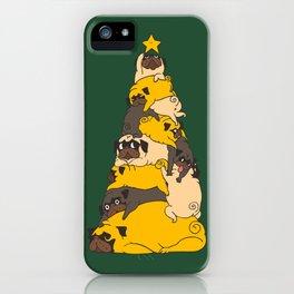 Christmas Tree Pugs iPhone Case