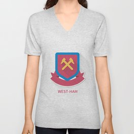 West Ham United Smooth Logo Unisex V-Neck