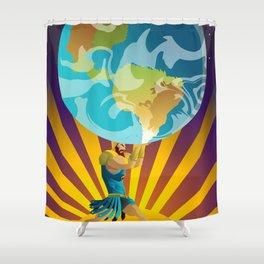 atlas holding the world Shower Curtain