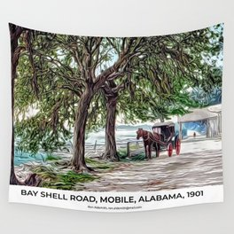 Bay Shell Road, Mobile, Alabama 1901 Wall Tapestry