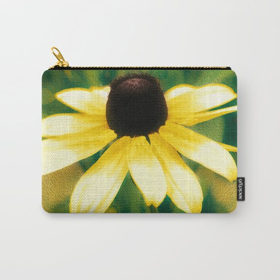 Vibrant Yellow Coneflower Carry-All Pouch