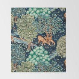 "William Morris ""The Brook"" Throw Blanket"