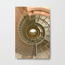 Gray's Harbor Lighthouse Stairwell Spiral Architecture Washington Nautical Coastal Metal Print