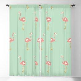 Flamingo Mint Pattern 009 Blackout Curtain