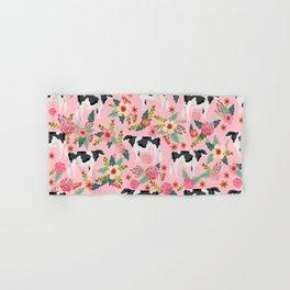 Holstein cattle farm animal cow floral Hand & Bath Towel
