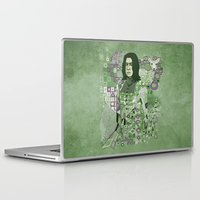 snape Laptop & iPad Skins featuring Portrait of a Potions Master by Karen Hallion Illustrations