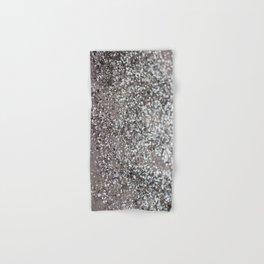 Sparkling SILVER Lady Glitter #1 #decor #art #society6 Hand & Bath Towel