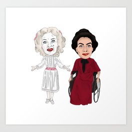 Whatever Happened to Baby Jane, Bette Davis, Joan Crawford Inspired Illustration Art Print