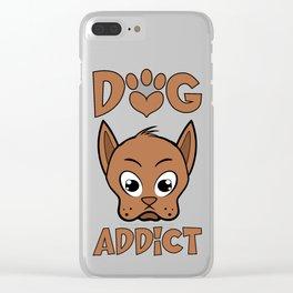 Dog addict Clear iPhone Case