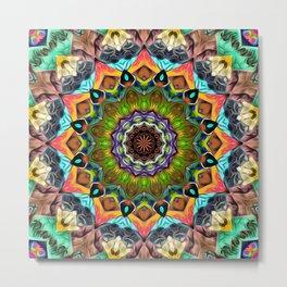 Textured Ornate Mandala Metal Print