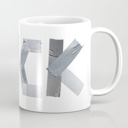 FUCK written with duct tape white background Coffee Mug