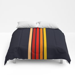 "Five Colorful Stripes on Black ""Sunrise"" Comforters"