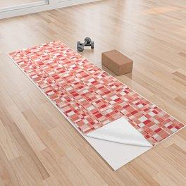 Mod Gingham - Red Yoga Towel