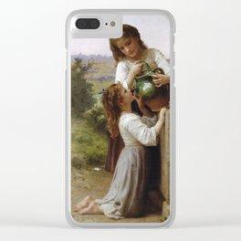Adolphe William Bouguereau - A La Fontaine Clear iPhone Case