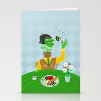 vegetarian Stationery Cards featuring Vegetarian parody by Bakal Evgeny