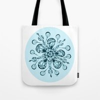 snowflake Tote Bags featuring Snowflake by Laura Maxwell