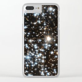 Sparkle Star Field in the Universe Clear iPhone Case