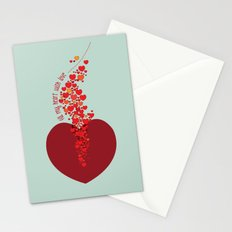 love overflow Stationery Cards