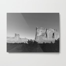 Arches National Park B&W | Utah Metal Print