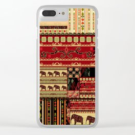African patchwork. Clear iPhone Case