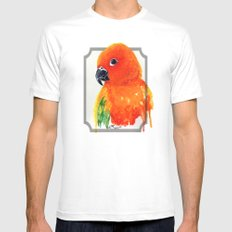 Parrot Mens Fitted Tee MEDIUM White